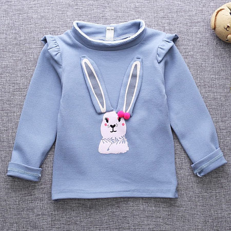 Bunny Pattern High Neck Sweatshirt