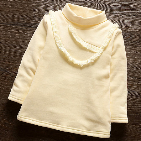 Thickened Solid Color Roll Neck Sweatshirt