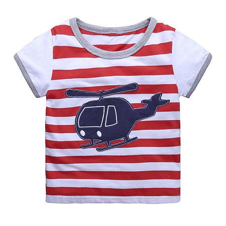 Stripes Aircraft Pattern T-Shirt