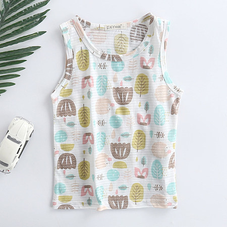 Buy Leaves Prints Tank, white, TL18052517 for $10.79 in Popreal store