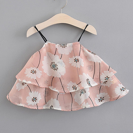 Buy Layered Flower Prints Cami Tops, pink, TL18060120 for $10.28 in Popreal store
