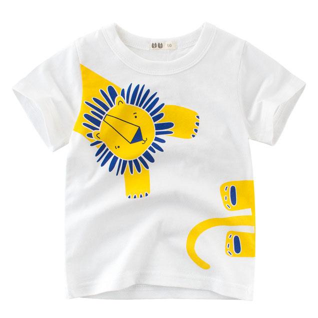 Cartoon Lion Pattern T-Shirt