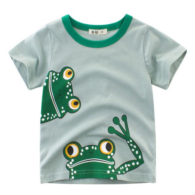 Cartoon Frog Pattern T-Shirt