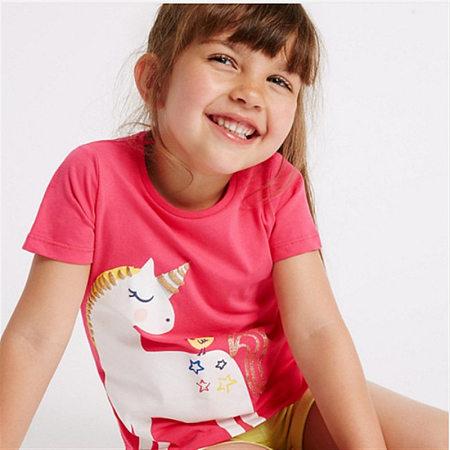 Cartoon Unicorn Pattern T-Shirt