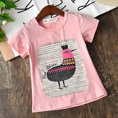 Cartoon Bird Pattern T-Shirt