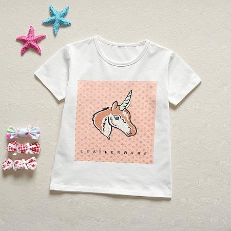Cartoon Unicorn Pattern T-Shirts