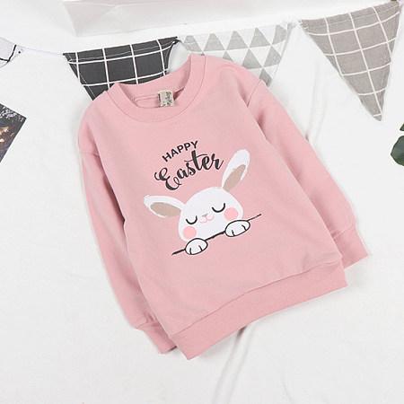 Cartoon Bunny Letters Pattern Sweatshirt
