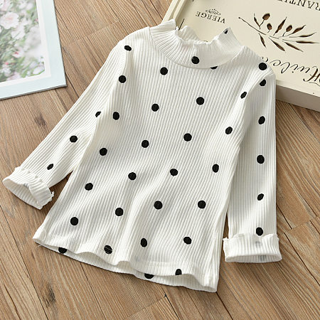 Polka Dots High Neck Tops