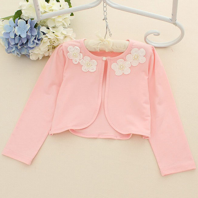 Fashion Girls Flower Decorated Outerwear