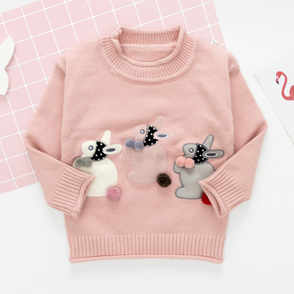 Bunny Applique Long Sleeve Sweater