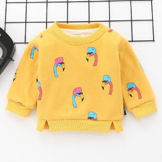 Cartoon Birds Pattern Long Sleeve Sweatshirt
