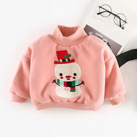Christmas Santa Reindeer Snowman Pattern Thickened Sweatshirt
