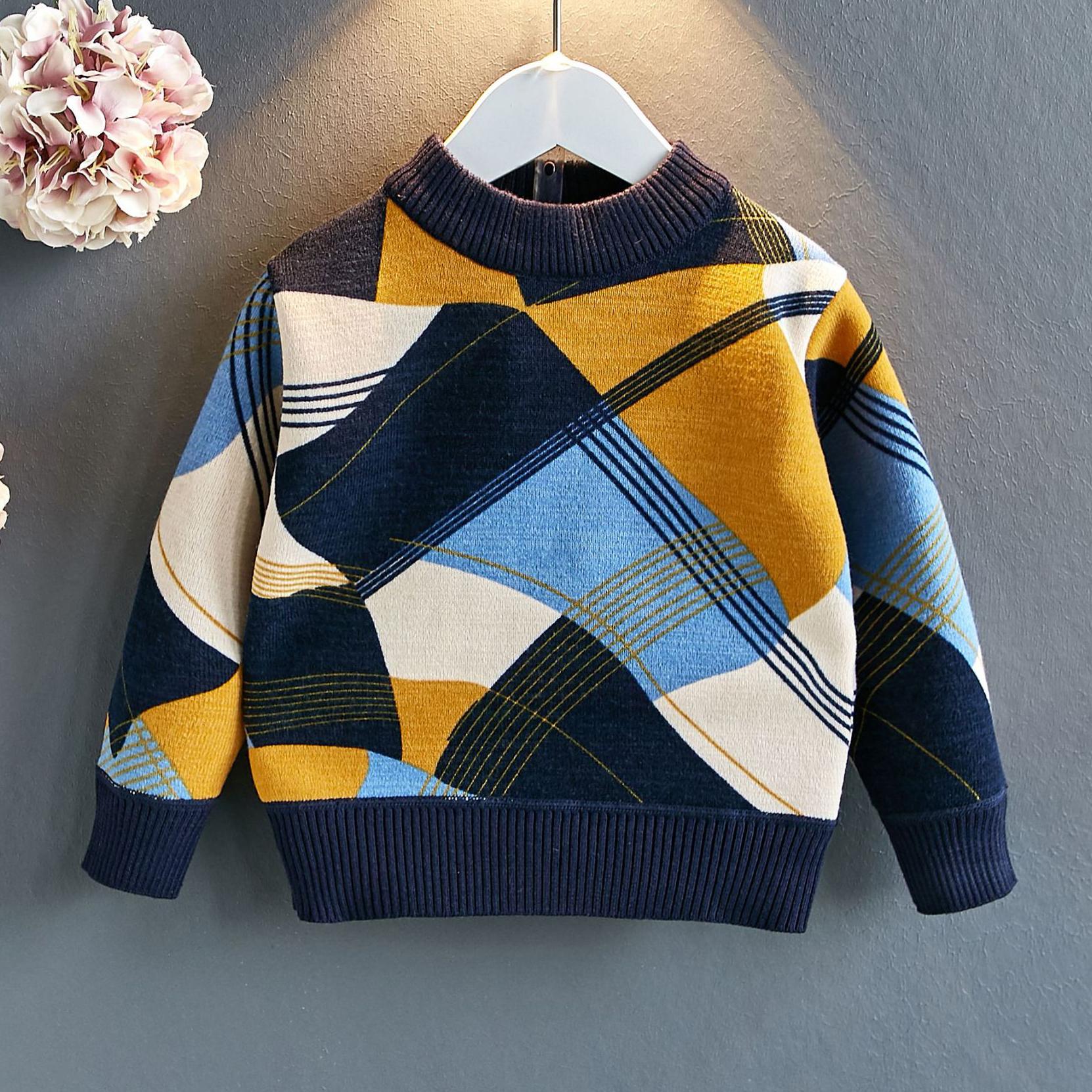 Irregular Pattern Thickened Sweater