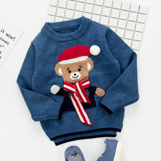 Cartoon Little Bear Pattern Sweater