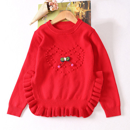 Knitted Loving Heart Pattern Sweater
