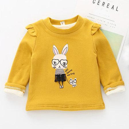 Cartoon Bunny Pattern Thickened Sweatshirt