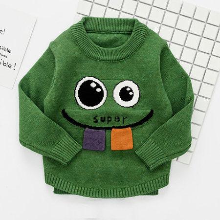 Big Eyes Monster Pattern Sweater