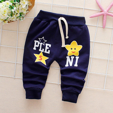 Star Print Drawstring Pants