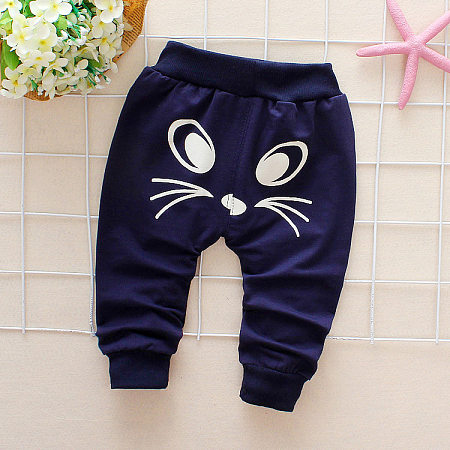 Cartoon Mouse Print Drawstring Pants