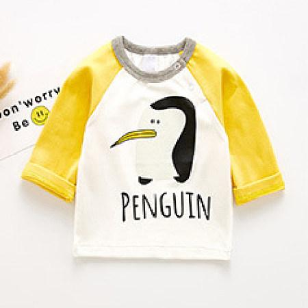Cartoon Animal Pattern Color Block T-Shirt