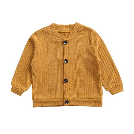 Solid Color Single-Breasted Cardigan
