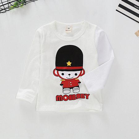 Cartoon Character Solid Color T-Shirt