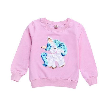 Unicorn Pattern Sequin T-Shirt
