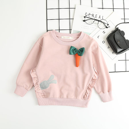 Cartoon Bunny And Carrot Pattern T-Shirt
