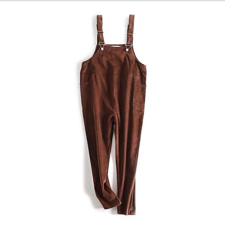 Maternity Support Abdomen Corduroy Suspender Pants