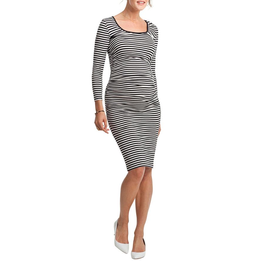 Maternity Stripe Knee-Length Dress