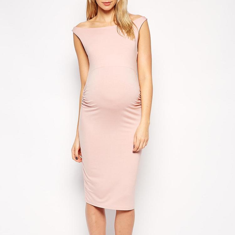 Maternity Sleeveless Knee-Length Dress