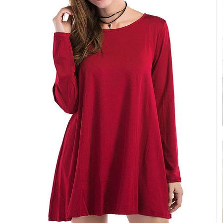 Round Neck A-Shape Dress