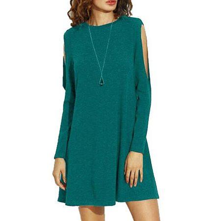 Open Shoulder Short Dress