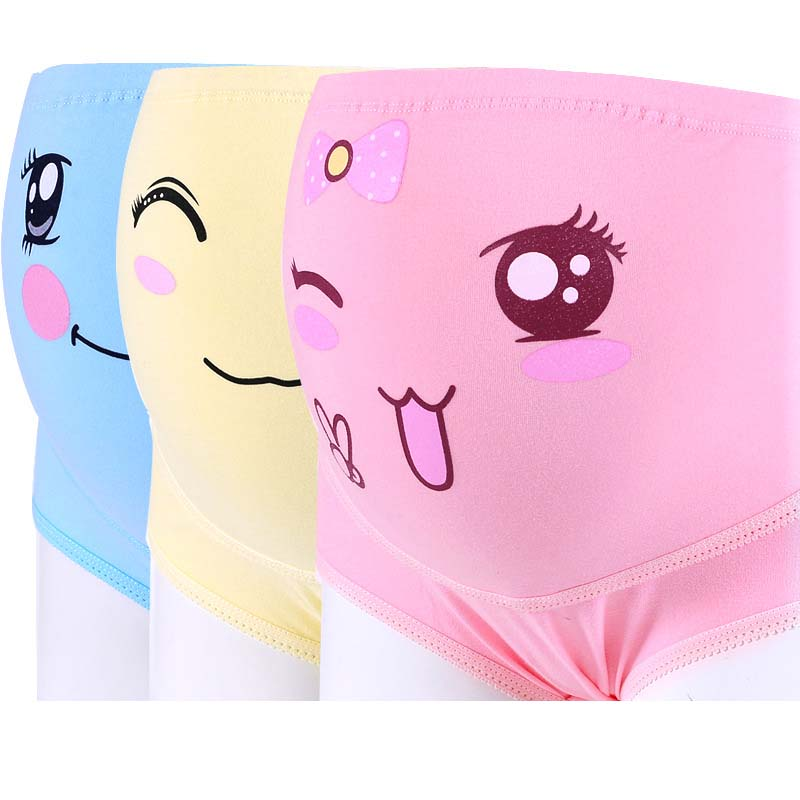 Funny Face Maternity High Waist Elastic Underwear By Three