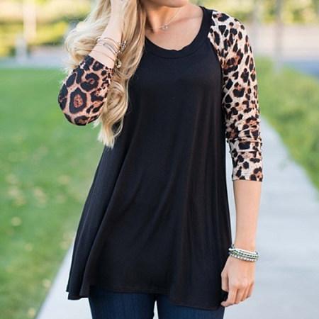 Leopard Print Long Sleeve Tee