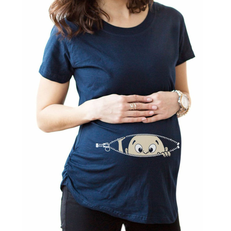 Cute Baby Print Maternity T-Shirt