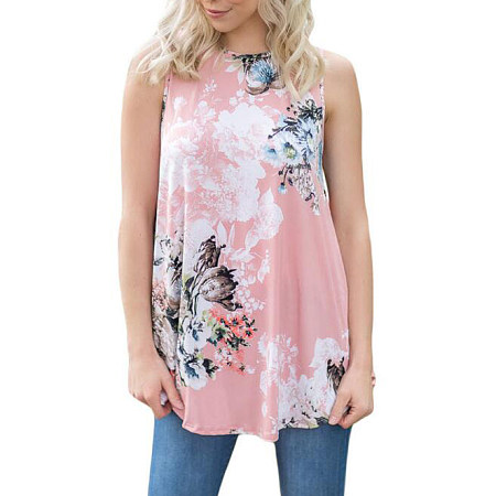 Sleeveless Tank Top In Floral Print
